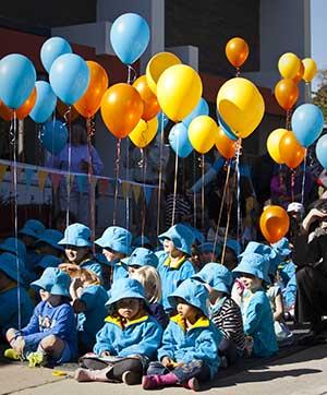 Children at school gathering
